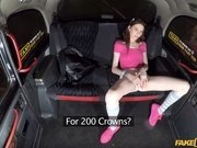 Steve & Sunny Honey in Slim student craves cabbies cock - FakeTaxi