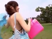 Horny Japanese model Miu Fujisawa in Hottest College, Beach JAV video