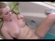 sexy blonde caught masterbating,, and continues