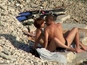 Teenage slut got fucked on a beach