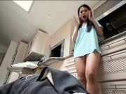 Asian teen slut Cindy Starfall gives a BJ and gets screwed
