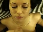 Horny amateur Girlfriend, Facial sex scene