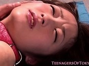 Japanese submissive teen anal fingerfucked