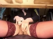 Hottest Amateur record with Fingering, Stockings scenes